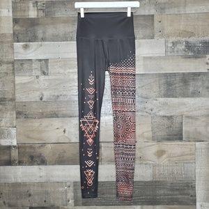 High Waist Leggings Mika Kaya Henna Print S/M